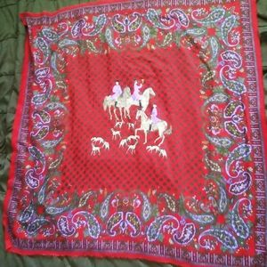 Home Red & Purple Throw Horses